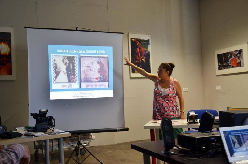 Sophie présentant le travail de Sarahland